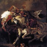 """Combat of the Giaour and the Pasha"" (Delacroix) – 1835"