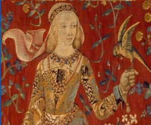 """""""Taste"""" (Detail of """"Unicorn and the Lady"""" Tapestry) - 1485"""