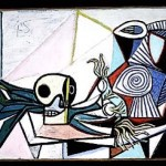 """Still Life with Skull, Leeks, and Pitcher"" (1945) - Picasso"