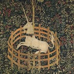 """Unicorn in Captivity"" (1500) - South Netherlandish Tapestry"