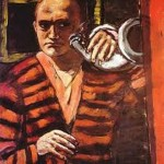 """Self-Portrait with Horn"" (1938) Beckman"