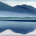 """View of Lake George"" (1922) - Georgia O'Keeffe"