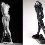 """Michael Reed"" (1987) - Robert Mapplethorpe / ""The Walking Man"" (1907) - Auguste Rodin"