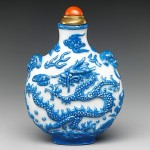 """Snuff Bottle with Dragon Chasing a Flaming Pearl"" (Qing Dynasty: Jiaqing Period, 1796–1820)"