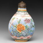 """Snuff Bottle with Peony and Bird"" (Qing Dynasty: Qianlong Period, 1736-1795)"