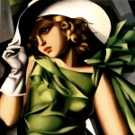 """Girl in the Green Dress"" (1930) - Tamara de Lempicka"