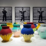 "Foreground, ""Colored Vases"" (2007–10) / Background, ""Dropping a Han Dynasty Urn"" (1995) - Ai Weiwei"
