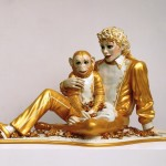 """Michael Jackson and Bubbles"" (1988) - Jeff Koons"