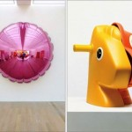 """Split-Rocker Orange/Red)"" (1999) / ""Moon (Light Pink)"" (1995–2000) - Jeff Koons"