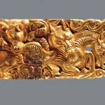 """Gold Belt Plaque"" (Second Century B.C.) - Western Han Dynasty"