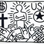 """Untitled (USA)"" (1982) - Keith Haring"