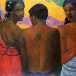 """Three Tahitians"" (1899) - Paul Gauguin"