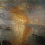 """The Burning of the Houses of Lords and Commons, October 16, 1834"" (1834–1835) - J.M.W. Turner"
